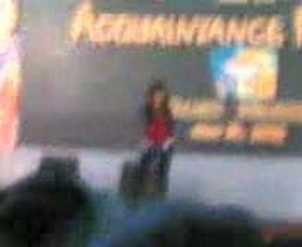 kristine bernadette racal singing at the acquaintance party
