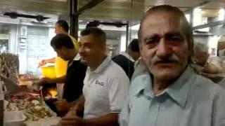Klashinkof Boghos at Falafel Arax. Best Falafel in the World.