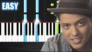 Bruno Mars - Just The Way You Are - EASY Piano Tutorial