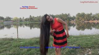 Pure Knee Length Hair Beauty in Nature