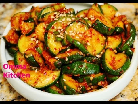 Spicy Korean Recipe: How to Make Vegetarian Stir Fry Zucchini (Squash) and Carrot Side Dish – 호박볶음