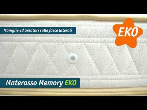 Materasso anallergico, EKO in Memory 4cm singolo 80 x 190 - 22cm