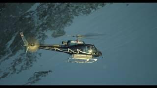Images tournées dans la région de Trient et d'Argentière lors du tournage d'un film pour le cinéma. Deux hélicoptères pour ce tournage, Vincent Marquis à ...