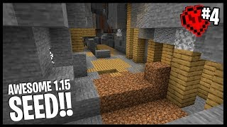 BEST 1.15 MINESHAFT I'VE EVER FOUND!! | Minecraft 1.15 Hardcore Lets Play | #4