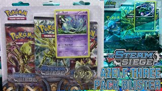 Pokémon Cards - Steam Siege Azelf 3 Pack Promo Blister Opening! by The Pokémon Evolutionaries