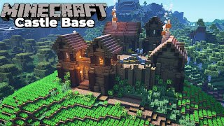 How to build an Awesome Wooden Castle for Minecraft 1.15 Survival