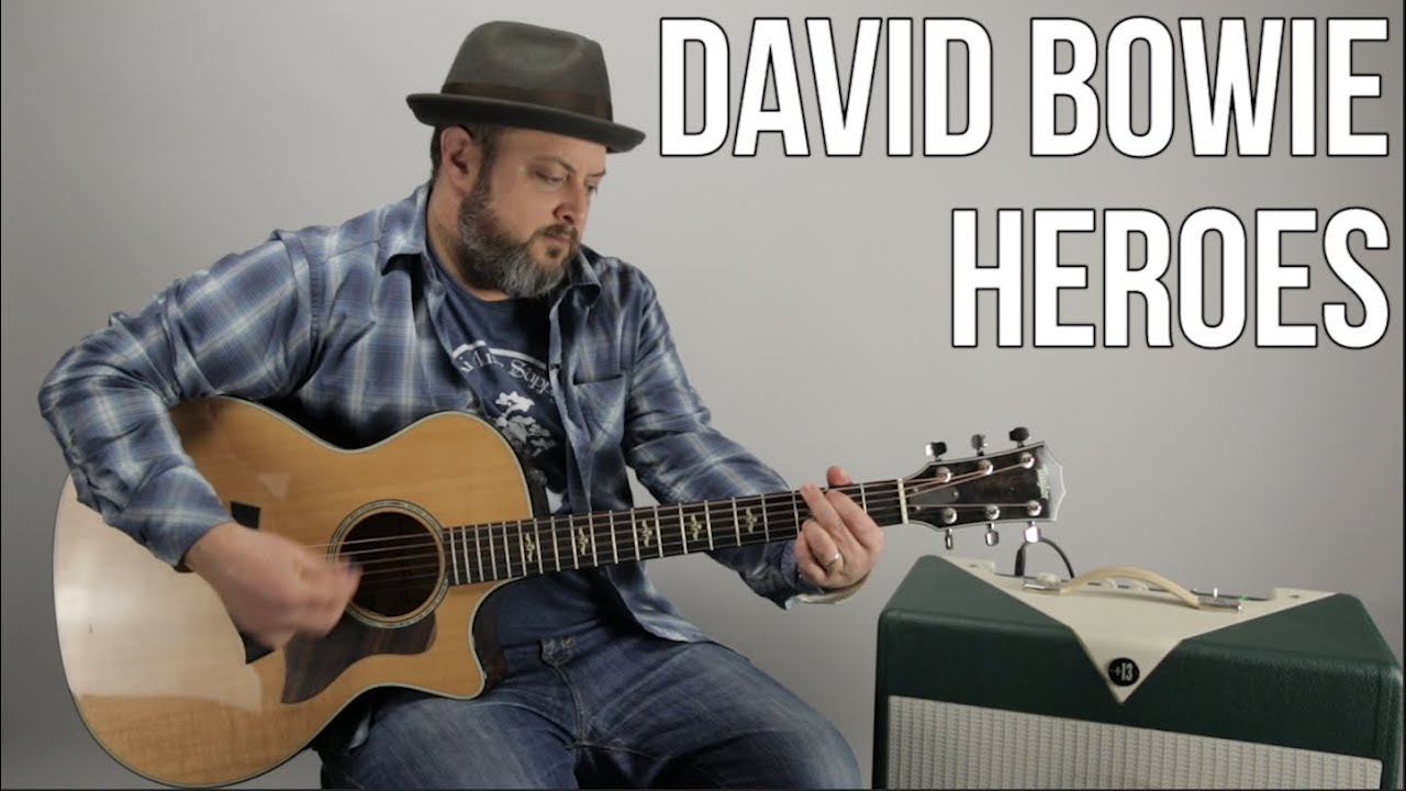 David Bowie Heroes Easy Acoustic Guitar Lesson + Tutorial
