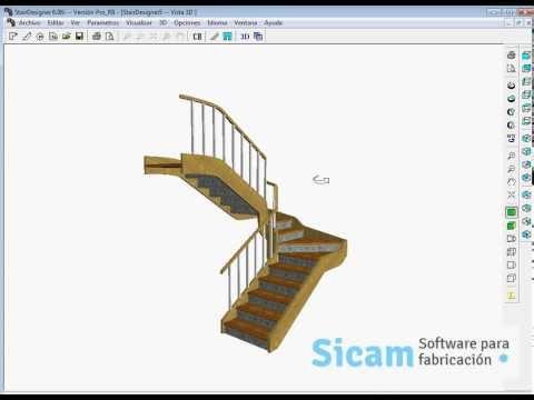 STAIRDESIGNER: escalera con dos rellanos