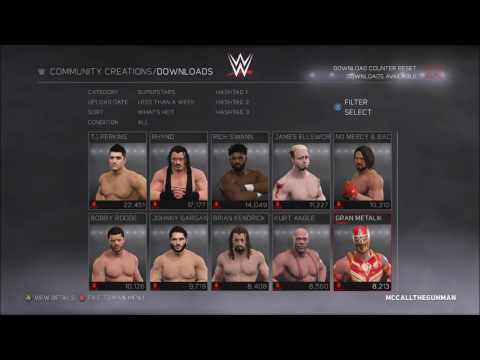 WWE 2k17 How To Download Awesome Created Characters and Logos