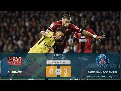 Guingamp vs PSG  0-3  Highlights 13/8/2017