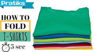 How to Fold a T-Shirt In 5 Seconds