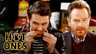 Video James Franco and Bryan Cranston Bond Over Spicy Wings | Hot Ones MP3, 3GP, MP4, WEBM, AVI, FLV November 2018