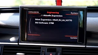 Red hidden menu in Audi MMI 3G+ is used for software updates and version confirmation. You can access it to start firmware update procedure and to check what navigation system and what software version you are using in your Audi with MMI.http://mr-fix.info/Facebook: https://www.facebook.com/mrfixpl/Instagram: https://www.instagram.com/mrfixpl/Pinterest: https://pinterest.com/mrfixpl/Instructables: http://www.instructables.com/member/mr-fix/
