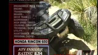 1. ATV Television QuickTest - 2005 Honda Rincon 650