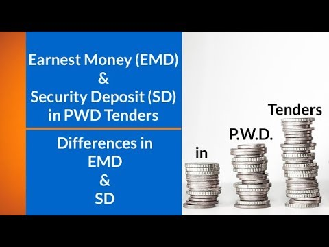 Earnest Money (EMD) & Security Deposit (SD) in PWD Tenders l Differences in EMD & SD l Suraj Laghe