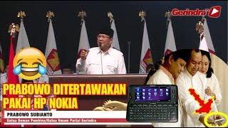 """Download Video Ditertawakan pakai Hp Nokia, Prabowo bilang """"Jangan Lu kira gua ga bisa pakai IPHONE"""" MP3 3GP MP4"""