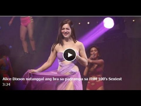 100's! - Alice Dixson Caught On Cam Nips Slips on FHM 100 Sexiest Night. [Shocking News] Alice Dixson Wardrome Malfunction on FHM 100's Sexiest! NOTE: These Video is ...