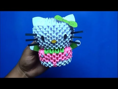 Origami 3D Hello kitty
