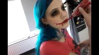 nina the killer transformation~creepypasta cosplay