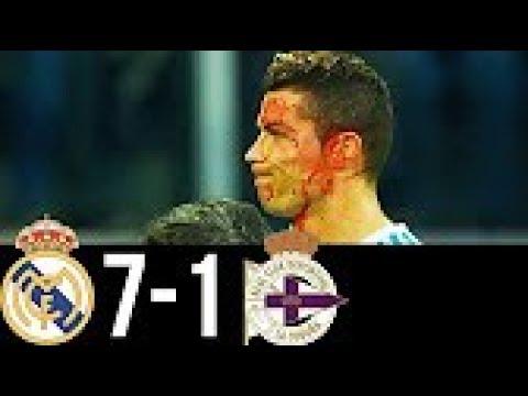 Real Madrid vs Deportivo de La Coruna La Liga 7-1 All Goals & Highlights HD 21/01/2018 HD