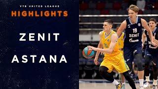 Hightlits of the match— VTB United league: «Zenit» vs «Astana»