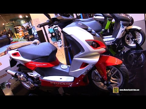 2017 Peugeot Speedfight 4 50cc 20th Edition Scooter - Walkaround - 2016 EICMA Milan