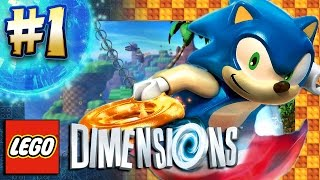 Lego Dimensions PS4 Pro - Sonic Level Pack Part 1: Green Hill Zone (4K 60FPS)