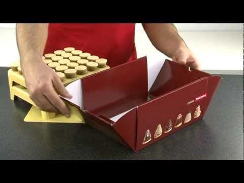Видео Формочки для печенья из пластмассы Tescoma Формочки для печенья осиное гнездо DELICIA, набор для изготовления и хранения Tescoma 631644
