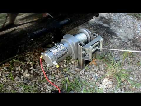 Mounting A HF 2000lb ATV Winch To Trailer Hitch