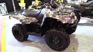 7. 2015 Suzuki Kingquad 400 Camo Recreational ATV - Walkaround - 2014 St Hyacinthe ATV show