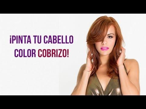 Como pintar el Cabello color Cobrizo