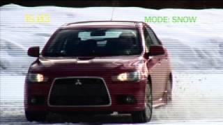 Driving Sports TV - 2009 Mitsubishi Ralliart Snow Test