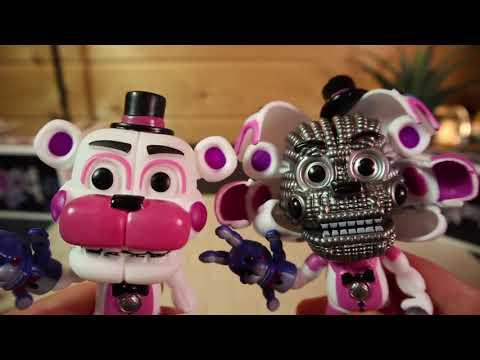 АНИМАТРОНИКИ ОЖИЛИ обзор игрушек ФНАФ фигурки FNAF онлайн видео