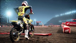 Monster Energy Supercross - Suzuki RM-Z 250 - Test Ride Gameplay (PC HD) [1080p60FPS]
