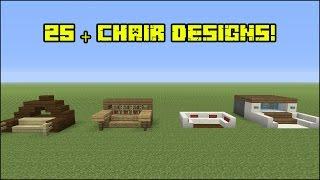 Minecraft Furniture - 25+ Chair Designs