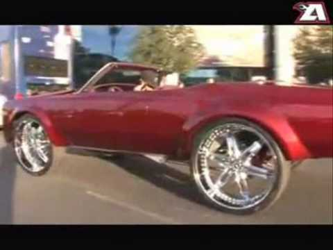 Pimped out cars big chrome rims bling bling wheels iced out car tuning