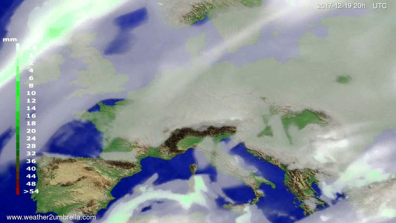 Precipitation forecast Europe 2017-12-16
