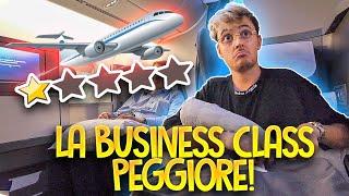 La PEGGIORE BUSINESS CLASS che io abbia MAI provato