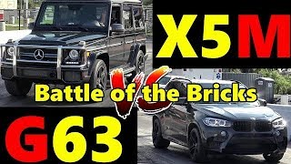 G63 AMG vs BMW X5M - Battle of the Bricks - Which is slower??  1/4 Mile Drag Race - RoadTest® by Road Test TV