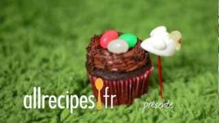 Faire des cupcakes en forme de nid d'oiseau