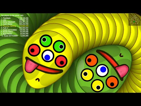 Worms Zone © 5.2 Million Score Love Kill All Stupid Gain Slither Snake Top 1 World Record 2020