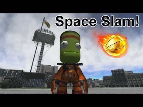 KSP Player slam dunks an asteroid