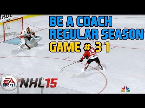 NHL 15 Gameplay Xbox One : Be a GM/Coach Regular Season Game 31 Flames @ Blackhawks 1080p HD