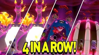 4 SHINY GMAX in a ROW! INSANE Max Raid Monday in Pokemon Sword and Shield by aDrive