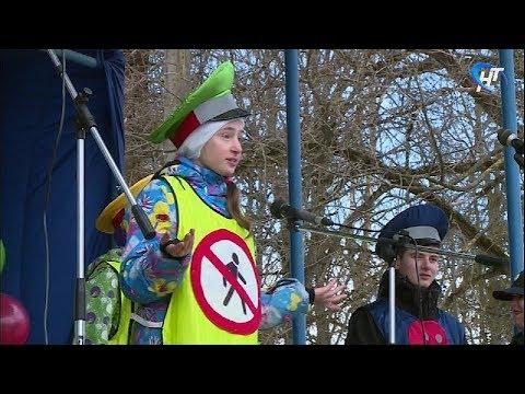 Маленькие жители Крестец привлекли внимание взрослых к проблеме детской безопасности на дорогах