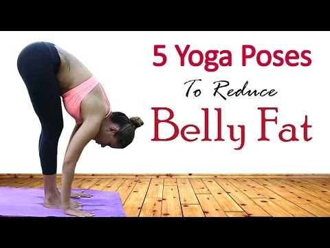 5 Simple Yoga Exercises To Lose Belly Fat In 1 Week | Best Yoga Asanas for Losing Weight Quickly (видео)