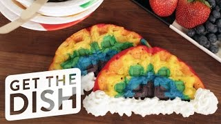 How to Make Rainbow Waffles | Eat the Trend by POPSUGAR Food