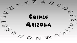 Chinle (AZ) United States  City new picture : How to Say or Pronounce USA Cities — Chinle, Arizona