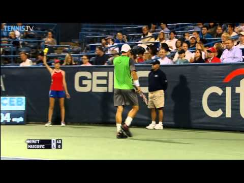 Shot - Lleyton Hewitt brings up set point with this Hot Shot winner against countryman Marinko Matosevic at the Citi Open. Watch live matches at http://www.tennistv.com/