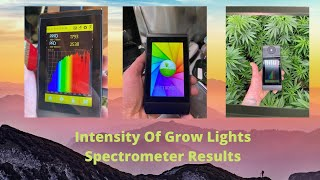 Intensity Of Grow Lights Spectrometer Results by John Berfelo